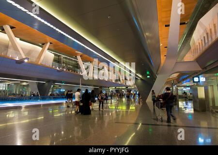 L'un des halls de l'Aéroport International Hamad à Doha, Qatar