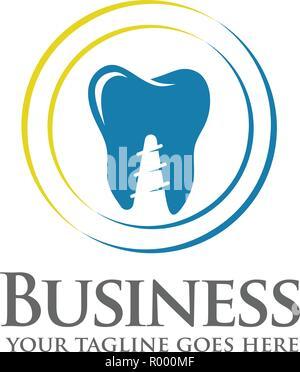 Dentiste logo coloré, les soins dentaires ou une clinique dentaire