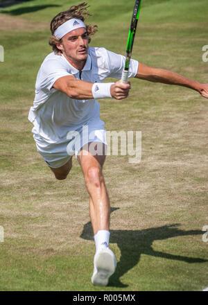 Stefanos Tsitsipas 2018 Wimbledon tennis player Banque D'Images