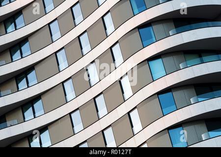 Riverwalk immeuble à appartements. L'architecture du bâtiment. Londres, Angleterre Banque D'Images