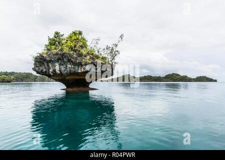 Des formations rocheuses intéressantes sur l'île de Vanua Balavu, Lau, du Nord, de la République de Fidji, Îles du Pacifique Sud, du Pacifique Banque D'Images