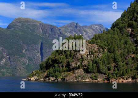 Geirangerfjord, UNESCO World Heritage Site, More og Romsdal County, Norway, Scandinavia, Europe Banque D'Images