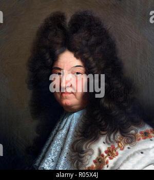 Louis XIV. Portrait du roi Louis XIV de France (1638-1715), après Hyacinthe Rigaud, huile sur toile Banque D'Images