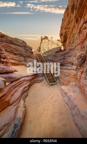 Canyon de sable dans le désert du Sinaï Banque D'Images