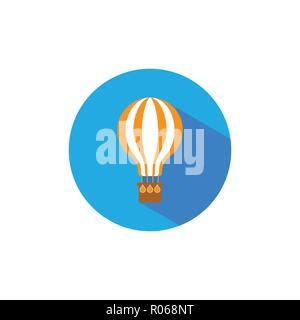L'icône de ballon à air, télévision hot air balloon signe. Vector illustration. Banque D'Images