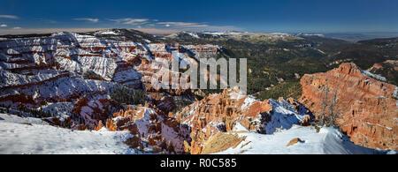 Cedar Breaks National Monument en hiver, de l'Utah Banque D'Images