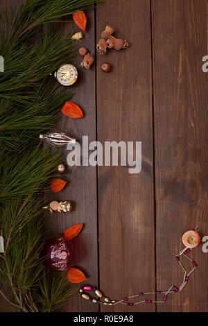 Fond Noël Nouvel an hiver nice cadeaux Banque D'Images