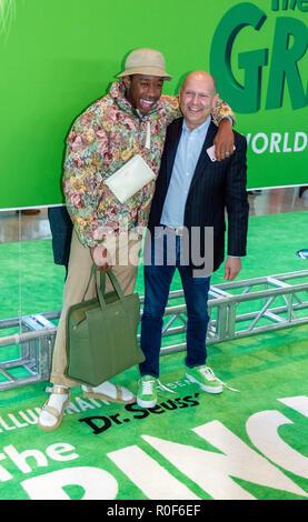 """New York, USA. 3 novembre, 2018. Tyler, le musicien créateur et producteur Chris Meledandri assister à la première mondiale de Dr Seuss's """"the Grinch"""" à l'Alice Tully Hall à New York le 3 novembre 2018. Crédit: Jeremy Burke/Alamy Live News Banque D'Images"""