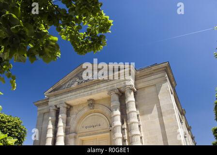 Le Musée de l'Orangerie est un musée de tableaux impressionnistes et post-impressionnistes art dans les jardins des Tuileries, à côté de la Place de la Concorde, à Paris, Banque D'Images