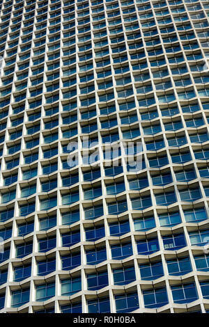 Centre Point immeuble, Londres, Angleterre, Royaume-Uni. Tour de 33 étages dans le style brutaliste, 1966. Détail Banque D'Images
