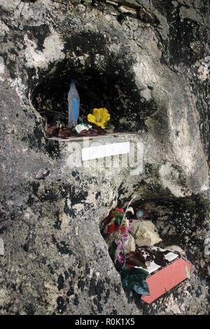 La dévotion religieuse rurale du sud de l'Italie en bordure de Banque D'Images