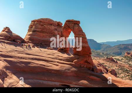 Delicate Arch dans Arches National Park, Utah, USA Banque D'Images