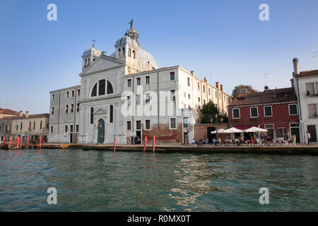 Fondamente Nove, Venise, Italie, un quartier calme qui est aussi le principal quai de départ pour les visiteurs aller à Murano et Burano Banque D'Images