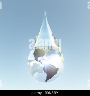 Amériques continents en goutte d'eau Banque D'Images