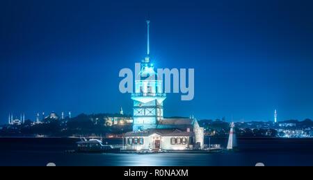 Tour dans le détroit du Bosphore Istanbul, Turquie Banque D'Images