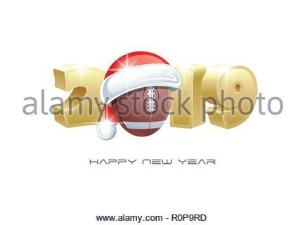 Ballon De Football Americain Pere Noel Avec Cadeaux Monte Dans Le C