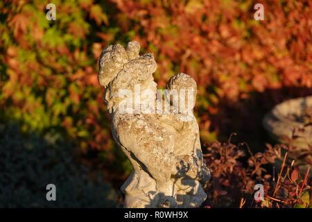 La mère et l'enfant statue de jardin en fonte patiné