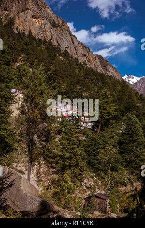 Paysage de Gangotri - Uttrakhand Banque D'Images