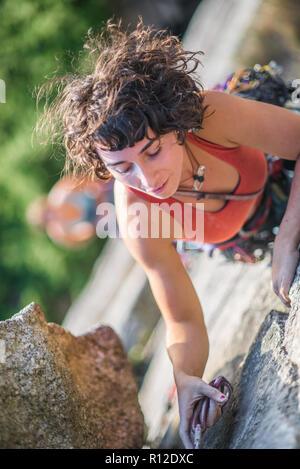 Femme de l'escalade, Malamute, Squamish, Canada