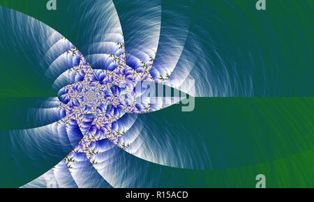 Brillant filage abstract fractal Banque D'Images