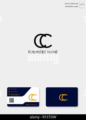 Creative CC Initiale Modle Logo Et Carte De Visite Vector Illustration Le