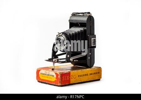 Kodak Six-20 Brownie Folding Camera Banque D'Images