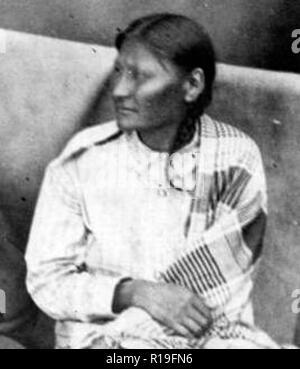 Mochi, un Cheyennes du Sud dans le camp de Black Kettle, devint un guerrier après ses expériences au Sand Creek massacre Banque D'Images