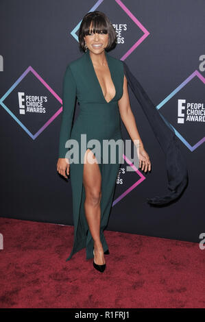 Santa Monica, Californie, USA. 11 novembre, 2018. Kat Graham à E ! People's Choice Awards s'est tenue à la Barker Hangar à Santa Monica, CA le dimanche, Novembre 11, 2018. Photo de RPAC / PictureLux PictureLux / Crédit : Les Archives de Hollywood/Alamy Live News Banque D'Images