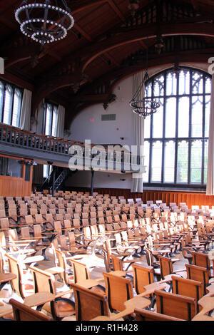 Intérieur du hall à l'Université de Princeton McCosh Banque D'Images