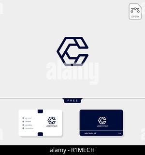 C Initial CC Creative Modele Logo Et Carte De Visite Conception