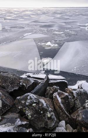 Lac de congélation Banque D'Images