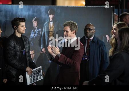 Londres, Royaume-Uni. 13Th Nov, 2018. Taylor Lautner photo montre en arrivant à la première de film:Animaux Fantastiques les crimes de Grindelwald. Crédit: Jeff Gilbert/Alamy Live News Banque D'Images