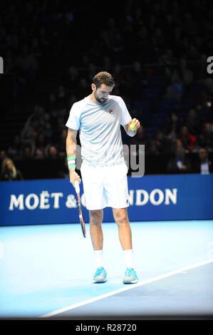 Londres, Royaume-Uni. 16 novembre 2018. Hughes Herbert, Nicolas Mahut, 02 Arena de Londres, Royaume-Uni. Credit: Terry Scott/FotoArena/Alamy Live News