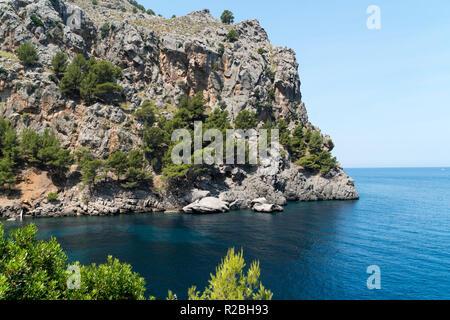 La baie de Sa Calobra, sur l'île de Majorque Banque D'Images