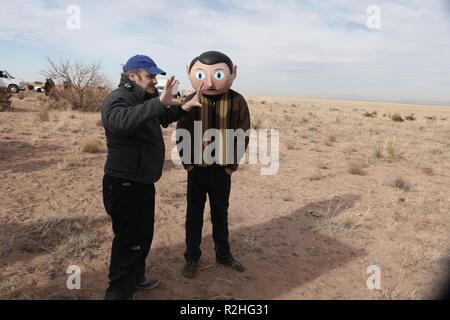 Frank Année: 2014 UK / USA / Irlande Réalisation: Lenny Abrahamson Lenny Abrahamson, Michael Fassbender Shooting photo Banque D'Images
