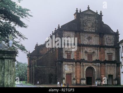 Basilique du Bon Jésus à CONSTRUIDA EN EL AÑO 1605. Lieu: BASILIQUE BOM Jesus. Goa. Banque D'Images