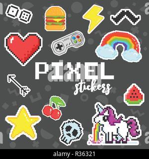 Licorne Pixel Art Vecteurs Et Illustration Image