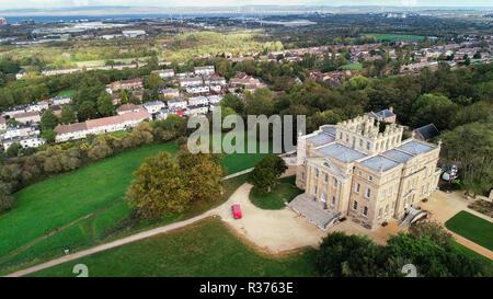 Drone abattu de Kingsweston House, Bristol, Royaume-Uni