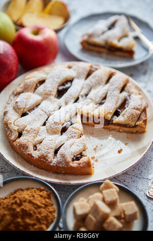Boulangerie Pâtisserie tarte aux cutted tranche sur petite plaque