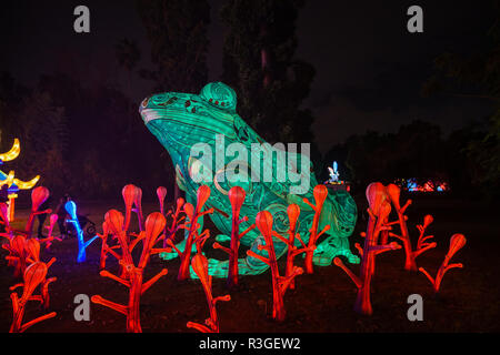 Los Angeles, 21 NOV : Belle lanterne colorée de Moonlight Forest Festival le Nov 21, 2018 à Los Angeles Banque D'Images