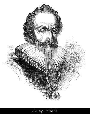 William Alexander, 1er comte de Stirling (1567-1640) de Menstrie, Clackmannanshire était un courtisan et poète écossais qui a participé à la colonisation de l'écossais d'habitation à Port-Royal, en Nouvelle-Écosse et à Long Island, New York. Il a obtenu faveur à la cour de Charles I d'Angleterre en 1625. Il a construit une réputation de poète et écrivain de tragédies, rimée et aidé le roi James I et VI dans la préparation de la version métrique connue comme 'les psaumes du Roi David, traduit par King James' et publié par l'autorité de Charles I. Banque D'Images