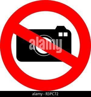 Pas de photo signer isolé sur fond blanc. Pas de photo numérique vecteur. Aucun signe de l'appareil photo. Banque D'Images