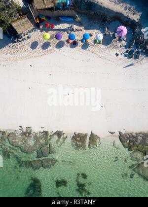 L'INDONÉSIE, Bali, vue aérienne de Melasti beach Banque D'Images