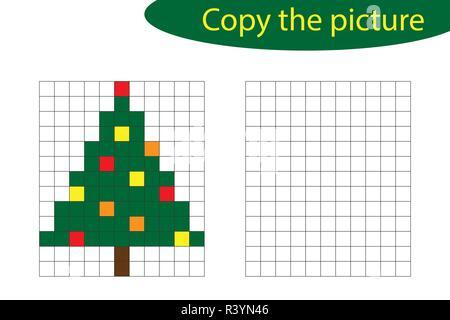Vector Pixel Art Arbre De Noël Vecteurs Et Illustration
