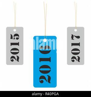 Balise d'ici 2016 Banque D'Images
