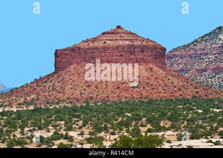 USA, Utah, le comté de San Juan, Red Rock Formation, Fromage Fort Butte Banque D'Images