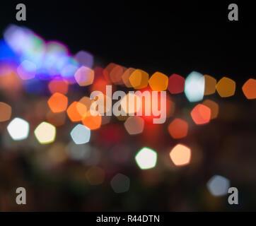 Résumé Lumières floues au festival de Loy Krathong Banque D'Images