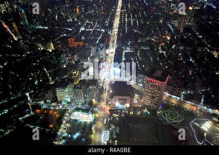 Taipei. 24 Nov, 2018. TAIPEI, TAIWAN, 24 Novembre - 2018: une vue des gratte-ciel de Taipei, la capitale de Taiwan (République de Chine). Yuri/Smityuk Crédit: TASS ITAR-TASS News Agency/Alamy Live News Banque D'Images