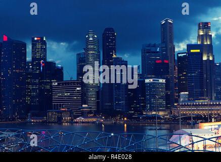 Belle vue sur Bangkok city at night Banque D'Images
