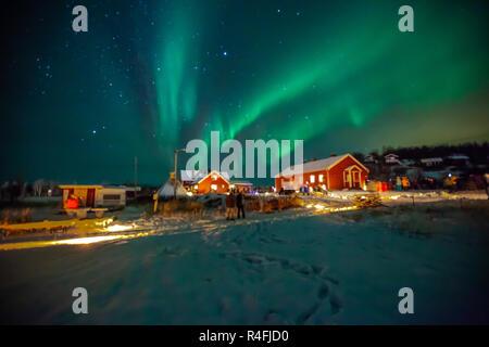 Les Aurores Boréales vu à Alta, en Norvège du Nord Banque D'Images